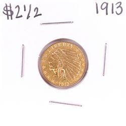1913 $2 1/2 Indian Head Quarter Eagle Gold Coin
