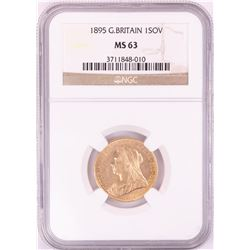 1895 Great Britain 1 Sovereign Gold Coin NGC MS63