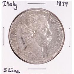 1879 Italy 5 Lire Silver Coin