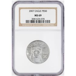 2007 $50 American Platinum Eagle Coin NGC MS69
