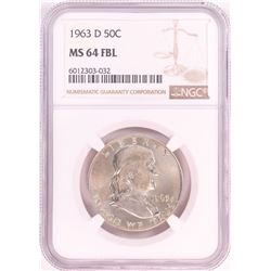 1963-D Franklin Half Dollar Coin NGC MS64FBL