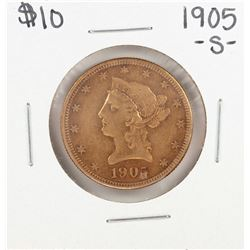 1905-S $10 Liberty Head Eagle Gold Coin