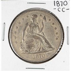 1870-CC $1 Seated Liberty Silver Dollar Coin