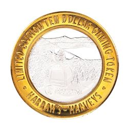 .999 Fine Silver Harveys Resort Lake Tahoe, Nevada $10 Limited Edition Gaming Token
