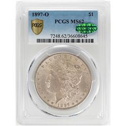 1897-O $1 Morgan Silver Dollar Coin PCGS MS62 CAC