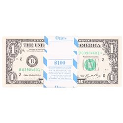 Pack of (100) Consecutive 2006 $1 Federal Reserve STAR Notes New York