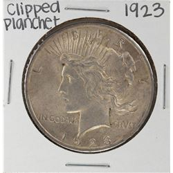 1923 $1 Peace Silver Dollar Coin - Clipped Planchet Error