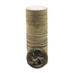 Roll of (40) Brilliant Uncirculated 1955-D Washington Quarter Coins