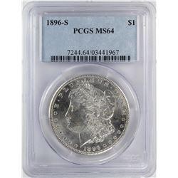 1896-S $1 Morgan Silver Dollar Coin PCGS MS64