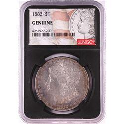 1882 $1 Morgan Silver Dollar Coin NGC Genuine