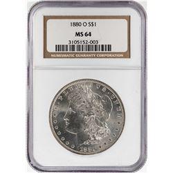 1880-O $1 Morgan Silver Dollar Coin NGC MS64