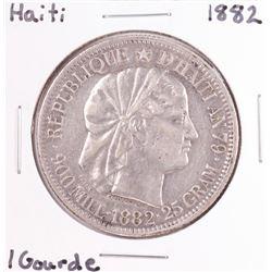 1882 Hati 1 Gourde Silver Coin