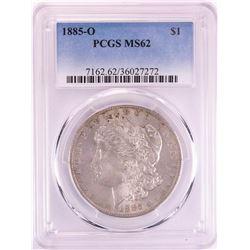 1885-O $1 Morgan Silver Dollar Coin PCGS MS62