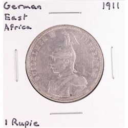 1911 German East Africa One Rupie Coin