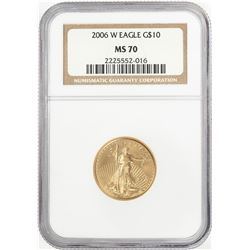 2006-W $10 American Gold Eagle Coin NGC MS70