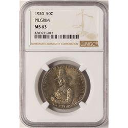 1920 Pilgrim Tercentenary Commemorative Half Dollar Coin NGC MS63