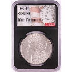 1896 $1 Morgan Silver Dollar Coin NGC Genuine