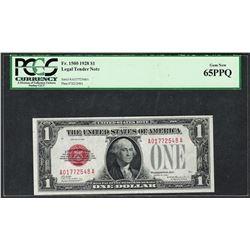 1928 $1 Legal Tender Note Fr.1500 PCGS Gem New 65PPQ