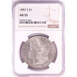 1883-S $1 Morgan Silver Dollar Coin NGC AU55