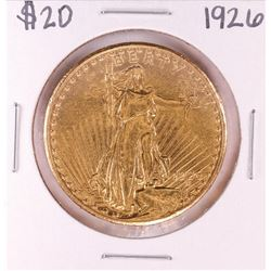 1926 $20 St. Gaudens Double Eagle Gold Coin