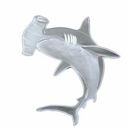 2020 Solomon Island $2 Hunters of the Deep 1 oz Silver Hammerhead Shark Coin