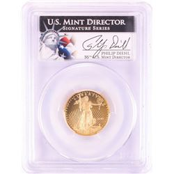 2010-W $10 Proof American Gold Eagle Coin PCGS PR69DCAM Mint Director Signature