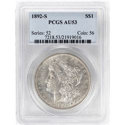 1892-S $1 Morgan Silver Dollar Coin PCGS AU53