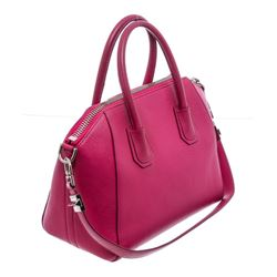 Givenchy Pink Leather Medium Antigona Satchel Bag