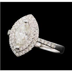 1.55 ctw Diamond Ring - 18KT White Gold