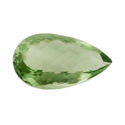 36.32 ct. Natural Pear Cut Green Amethyst
