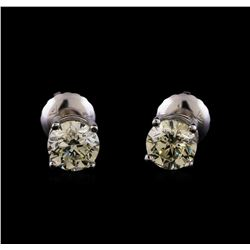 14KT White Gold 1.02 ctw Diamond Solitaire Earrings