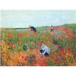 Mary Cassatt - Poppy In The Field