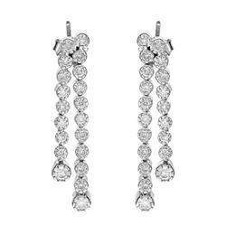 14k White Gold 0.98CTW Diamond Earrings, (I1-I2/H-I)