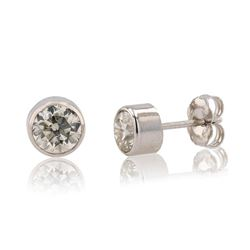 1.06 ctw SI2 Diamond 14K White Gold Earrings
