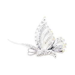 1.07 ctw Diamond Pin - 18KT White Gold