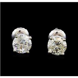 1.48 ctw Diamond Stud Earrings - 14KT White Gold