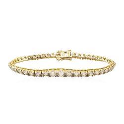 13.21 ctw Diamond Bracelelet - 18KT Yellow Gold