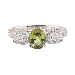 1.46 ctw Alexandrite and Diamond Ring - Platinum
