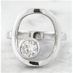 0.50 CTW Diamond 18K White Gold Ring