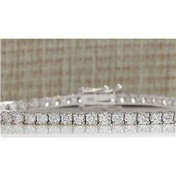 4.52 CTW Natural Diamond Bracelet In 18K Solid White Gold