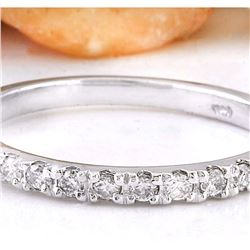 0.30 CTW Natural Diamond 18K Solid White Gold Ring