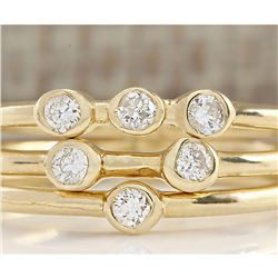 0.24 CTW Trio Diamond Ring In 18K Yellow Gold