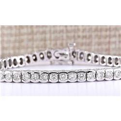 5.60 CTW Natural Diamond Bracelet In 14k White Gold