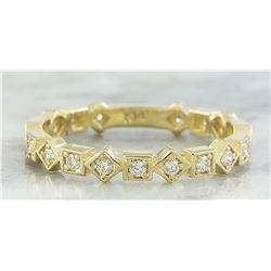 0.30 CTW Diamond 18K Yellow Gold Ring