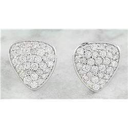 0.65 CTW Diamond 18K White Gold Earrings