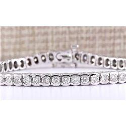 5.60 CTW Natural Diamond Bracelet In 18K White Gold