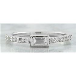 0.40 CTW Diamond 18K White Gold Ring