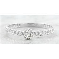 0.10 CTW Diamond 14K White Gold Solitaire Ring