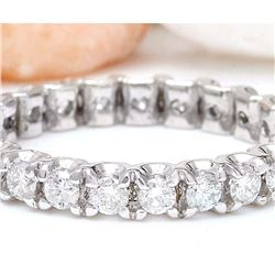 1.20 CTW Natural Diamond 18K Solid White Gold Ring