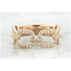 0.65 CTW Diamond 18K Rose Gold Ring
